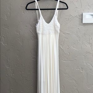 NWT Sky- Embroidered White Dress